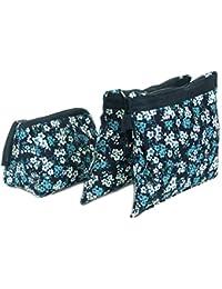 JaipurSe Cotton Floral Printed Multipurpose Utility Kits Makeup Kit/ Toiletry Bag/Travel Accessories Organizer...