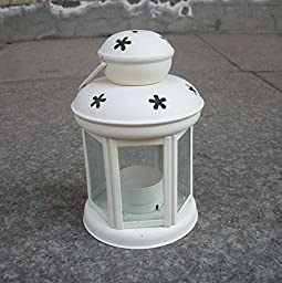 YONG Wrought iron candle holders and creative Eastern Mediterranean Lantern , white