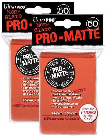 100 Ultra Pro Peach PRO-MATTE Deck Protectors Sleeves Standard MTG Colors