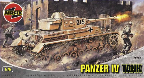 Airfix A02308 1:76 Scale Panzer IV Tank Military Vehicles Classic Kit Series 2