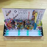 BSI - Value Pack Loom Kit - 1800pcs Mix Rainbow Bands + 72 Clips + Loom Board + 2 Mini Hooks + 1 Finger Hook + 12pcs Charms W/ring -Box Set, Great Fun for Kids Party