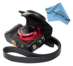 MegaGear 'Ever Ready' Protective Black Leather Camera Case , Bag for Canon PowerShot SX170 IS