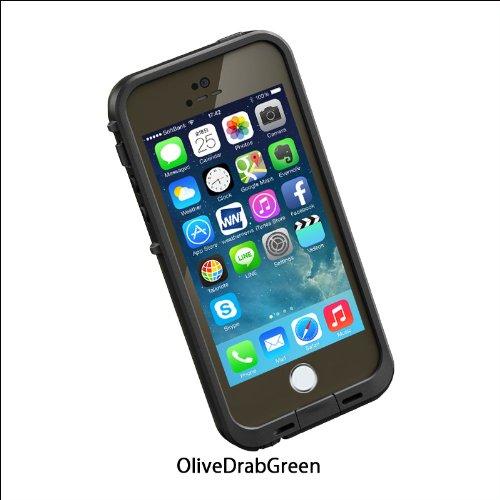 日本正規代理店品・保証付LIFEPROOF 防水防塵耐衝撃ケース LifeProof fre iPhone5/5s Olive Drab Green オリーブドラブグリーン 2101-09