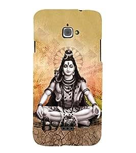 Vishalaksha Shiva 3D Hard Polycarbonate Designer Back Case Cover for InFocus M350