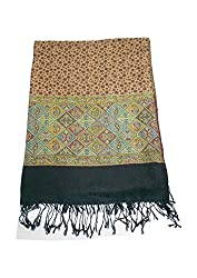 Maira Women's Pashmina Shawls & Stoles Black Colour