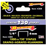 Arrow Fastener 304 1/4-Inch Thin Wire Staples for T30