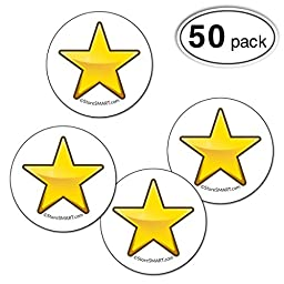 StoreSMART - Yellow Star Magnets - 50-Pack -1.25-inch - STAR125-Y-50