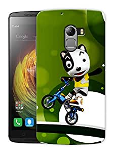 "Humor Gang Panda Riding Bike Printed Designer Mobile Back Cover For ""Lenovo K4 Note"" (3D, Matte, Premium Quality Snap On Case)"