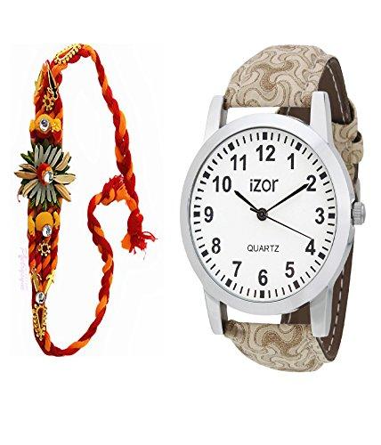 Gift For Boys, Men, Bro, Brother, Rakhi Gift, White Dial Analogue Casual Wear Watch With Free Rakhi (Rakhi Designs... - B01K7N7YDA