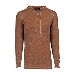 Volcom Men\'s Murphy Hooded Thermal Shirt, Mocha, Medium