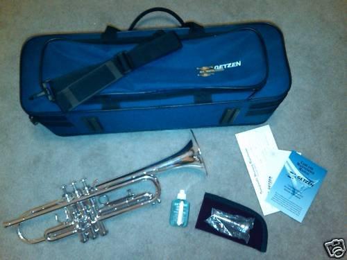 300 Series Silver Getzen Trumpet