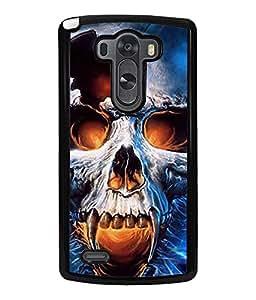 Fuson 2D Printed Skull Designer back case cover for LG G3 - D4346