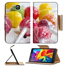 buy Msd Premium Samsung Galaxy Tab 4 7.0 Inch Flip Pu Leather Wallet Case Colorful Candy Lollipops Image 19833974