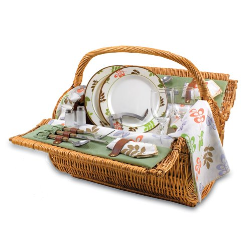 Barrel Picnic Basket-Botanica Collection front-619562