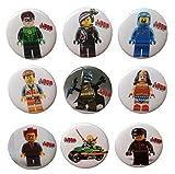 Lego Movie Buttons Badges 9 Pcs Set #1