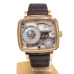Hautlence HL HL07 43.8 Automatic 18K Gold Case Brown Leather Anti-Reflective Sapphire Men's Watch