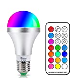 NetBoat LED Color Changing Light Bulb with Remote Control,10W E26/E27 RGB+Daylight White LED Bulbs Dimmable,Memory Function and Wall Switch Control,Ideal Lighting for Home Decoration,Stage,Bar,Party