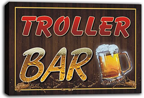 scw3-073637-troller-name-home-bar-pub-beer-mugs-cheers-stretched-canvas-print-sign