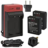 EZOPower 2 x High Capacity NP-W126 Battery + Travel Charger Kit + UK Plug for Fujifilm FinePix X-E2, X-A1, X-E1, X-Pro1, FinePix HS50EXR, HS30EXR, HS33EXR Digital Camera