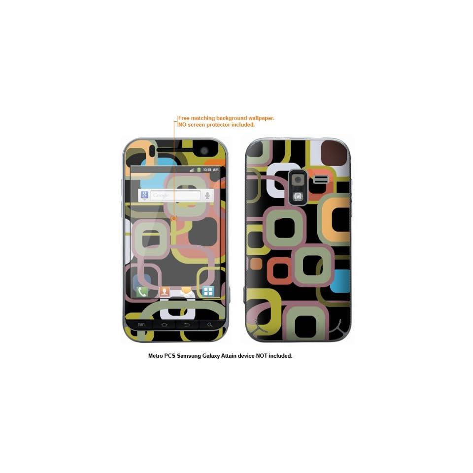 Protective Decal Skin Sticker for Metro PCS Samsung Galaxy Attain 4G case cover Attain 416