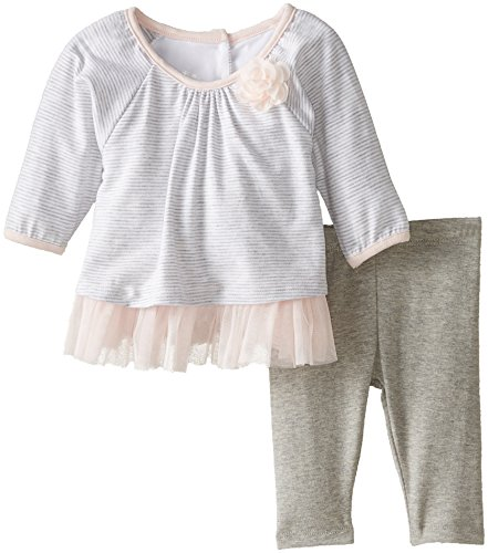 Pippa & Julie Baby-Girls Newborn Knit Swing Set, Grey, 9 Months