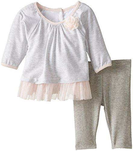 Pippa & Julie Baby-Girls Newborn Knit Swing Set, Grey, 9 Months