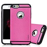 6s Plus Case, iPhone 6 Plus&6s Plus Case - TURATA [Heavy Duty] Dual Layer Air Cushion Hard Plastic TPU Protective Case Bumper with Dust Plug Design for iPhone 6 Plus&6s Plus (5.5 inch) - Hot Pink