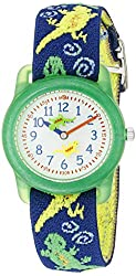 """Timex Kids' T72881 """"Lizards"""" Watch with Multi-Colored Fabric Band"""