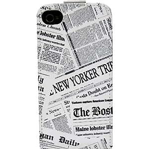 Akashi 730479 Etui à rabat pour iPhone 4S Motif Newspaper