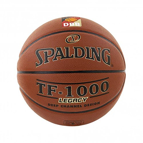 Spalding Basketball TF1000 Legacy DBB Fiba 74-589z, Orange, 7, 3001504010217