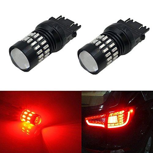 JDM ASTAR Extremely Bright 4014 Chips 3156 3057 3157 4057 4157 LED Bulbs with Projector,Brilliant Red (2000 Softail Service Manual compare prices)