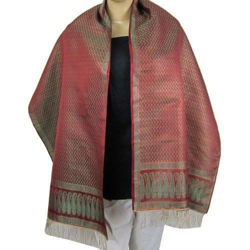 Silk Scarves Uk Womens Scarfs India Clothing Silk Brocade Fabrics 55 cm x 182 cm