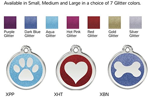 Red Dingo Stainless Steel with Glitter Pet I.D. Tag футболка lasting dingo 6262 xl мужская