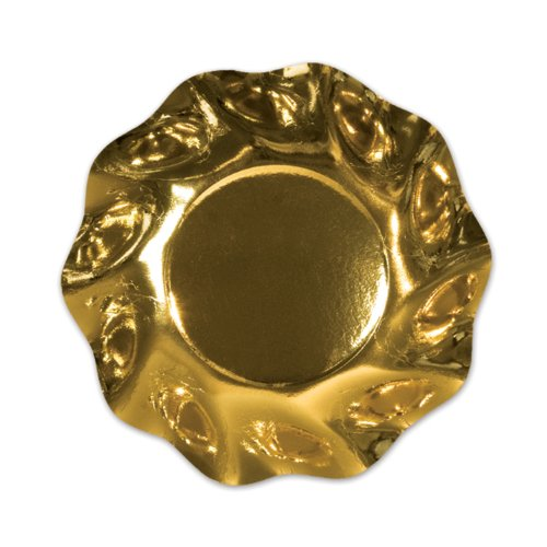 Metallic Gold Medium Bowls (10/Pkg)
