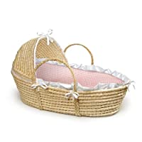 Badger Basket Moses Basket with Hood and Bedding from Badger Basket Company