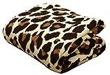 イケヒコ 毛布 シングル 寝具 豹柄 フランネル 『レオパードS IT』 ブラウン 約140×200cm ♯9810581