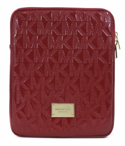 Michael Kors Signature Electronics Leather Tablet Case Red
