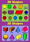 2D Shapes 3D Shapes - Childrens Basic...