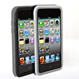 4G Touch Twin Pack Black & Clear Silicone Protective Armour Case Cover + Screen Protector Kit for New Apple iPod Touch 4th Generation – 8GB 32GB 64GB