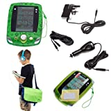 Ultimate Addons UK Boys Deluxe Bundle for LeapFrog LeapPad 2, including bag, case, mains adapter, car adapter, 5 metre extender, headphones and screen protectors