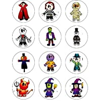 Halloween  Edible Image Cupcake Toppers