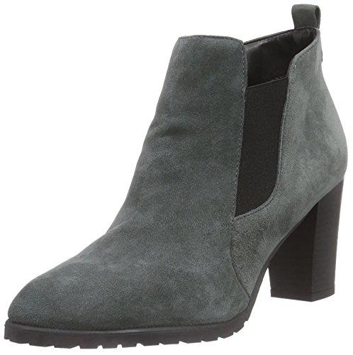 Tamaris 25017 - Stivaletti chelsea a gamba alta, imbottitura leggera da donna, grigio (dark grey 213), 37