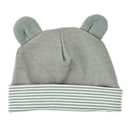 Baby Hat with Radiation Shielding Fabric Available in Two Styles: Rabbit or Mouse - Protective Baby Hats Effective at Shielding Everyday Wireless Radiation