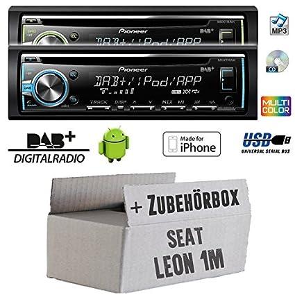 Pour seat leon 1 m-pioneer dEH-x6800DAB dAB-cD/mP3/uSB avec dAB et antenne inclus