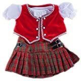 "Scottish Dress outfit Teddy Bear Clothes Fit 14"" - 18"" Build-A-Bear, Vermont Teddy Bears, and Make Your Own Stuffed Animals"