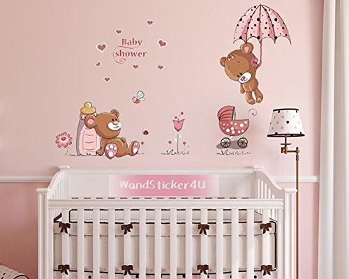 wandsticker4u-baby-bar-in-rosa-effektbild120x60-cm-motiv-teddy-bar-herz-blumen-schmetterling-marienk