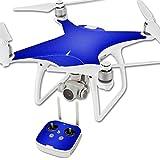 MightySkins Protective Vinyl Skin Decal for DJI Phantom 4 Quadcopter Drone wrap cover sticker skins Blue Carbon Fiber