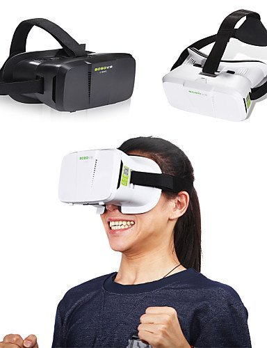 "BOBO VR 3D Box VR Glasses Xiaozhai II Virtual Reality VR Head Mount VR 3D Glasses VR for 4""~6"" Smartphone , black"