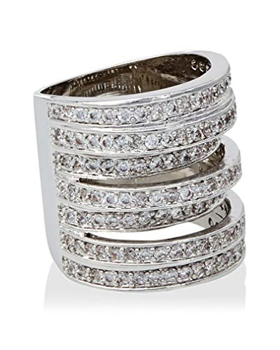 CZ by Kenneth Jay Lane Round CZ Multi Pave Bands Ring