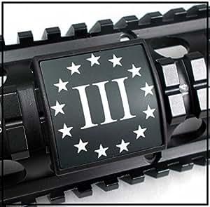 ultimate arms gear three iii percenter black white laser engraved aluminum custom. Black Bedroom Furniture Sets. Home Design Ideas